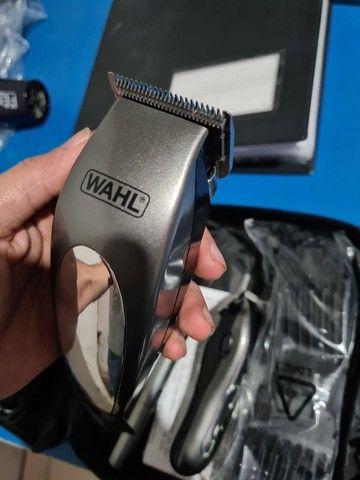 Máquina de cortar cabelo wahl groom deluxe pro barbeiro salão curso - Foto 5