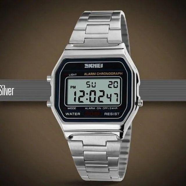 Relógio skmei digital retrô estilo cassio