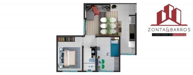 Apartamento à venda com 2 dormitórios em Estados, Fazenda rio grande cod:AP00003 - Foto 13