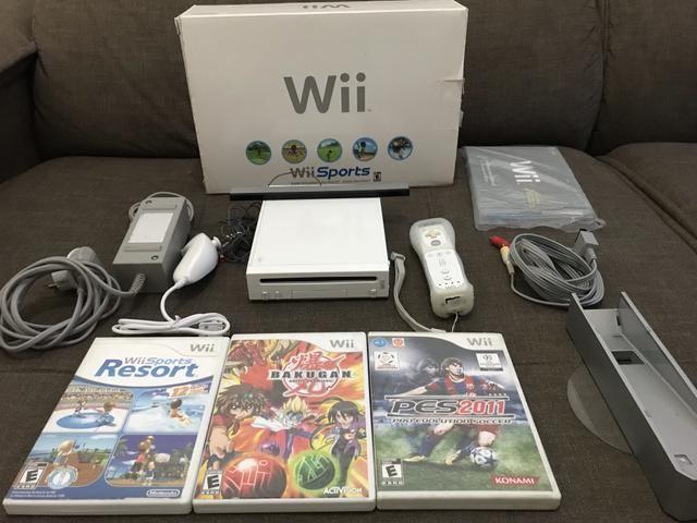 Wii original completo com manual