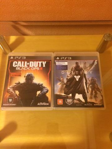 Kit - ?Call of Duty Black Ops 3? e ?Destiny? (PS3)