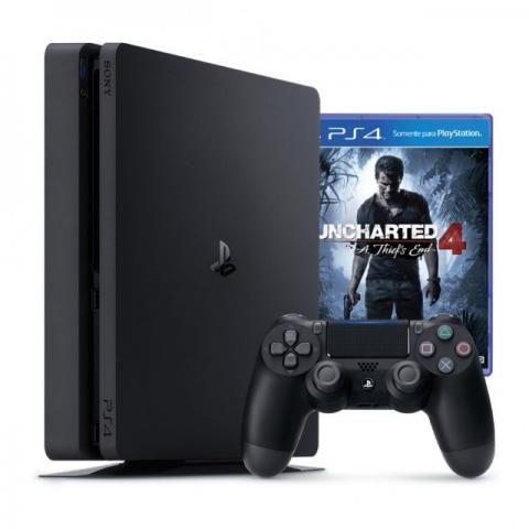 PlayStation 4 / uncharted 4 / ( novo ) Aceito Cartão aceitamos seu usado como entrada