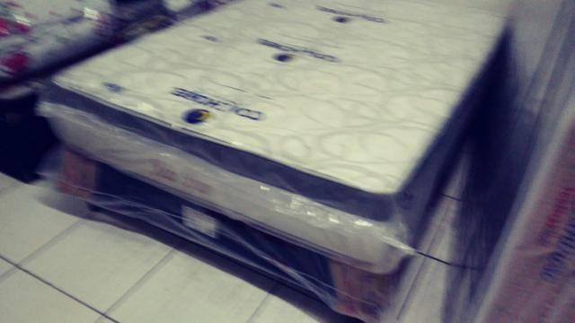 Conj colchão molas ensacada+box