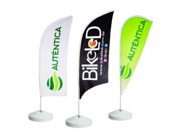 Wind Banner Kit Completo Bandeira e Base Tecido Microfibra (personalizável)
