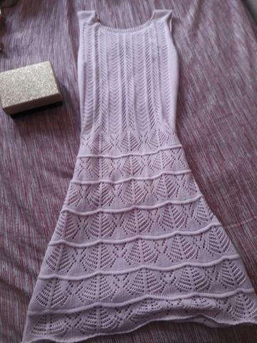 Vestido de crochê, usado 1 vez só