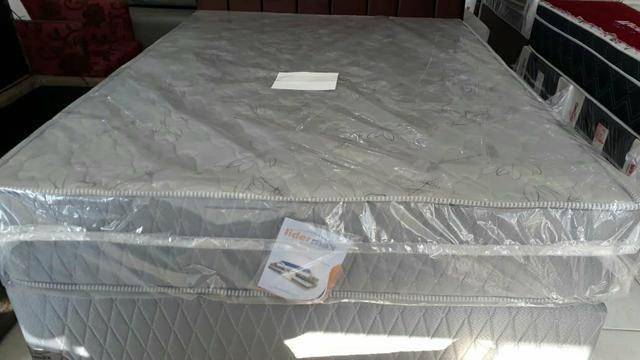 Conjunto box casal com colchão ortopédico D33 R$ 1299 em até 10x nos cartões - Foto 3