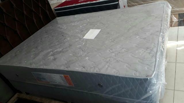 Conjunto box casal com colchão ortopédico D33 R$ 1299 em até 10x nos cartões - Foto 2