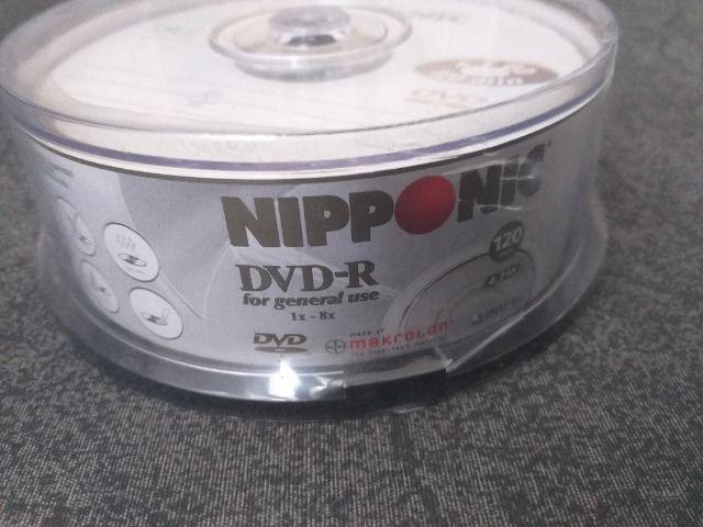 Pote de DVD virgem contendo 25 unidades - Lacrado - + Caixa com 10 cds virgem - Foto 3