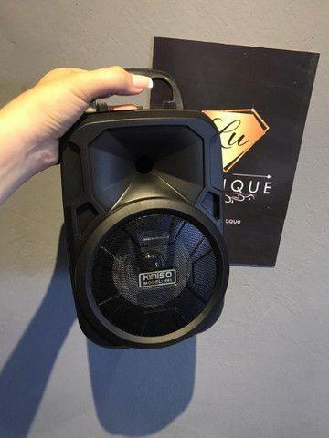 Caixa de som média KIMISO potente com entrada pra microfone  - Foto 2