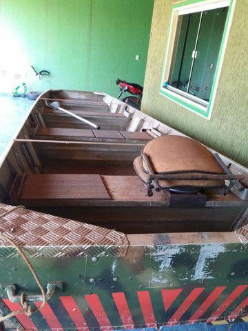 Vendo canoa,motor, carretinha - Foto 3