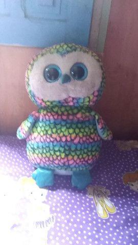 Ursinho de pelucia colorido usado - Foto 2