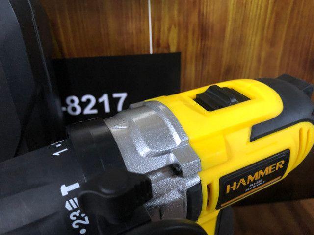 Parafusadeira Furadeira 2 Baterias De Impacto Com Maleta - Foto 5