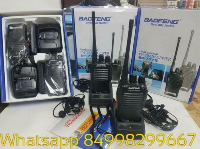 Rádio Comunicador Walk Talk Baofeng 777s 4km em ária aberta