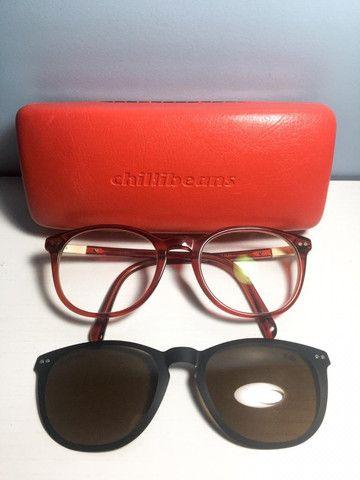 Óculos multi grau/sol vermelho - Foto 5