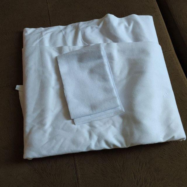 Tecido algodão 100% branco e ribana branca