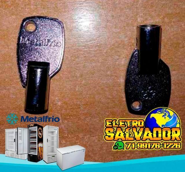 Chave P/ Freezer Horizontal Metalfrio Da550 Da420 Da302 Nova e Original - Foto 2