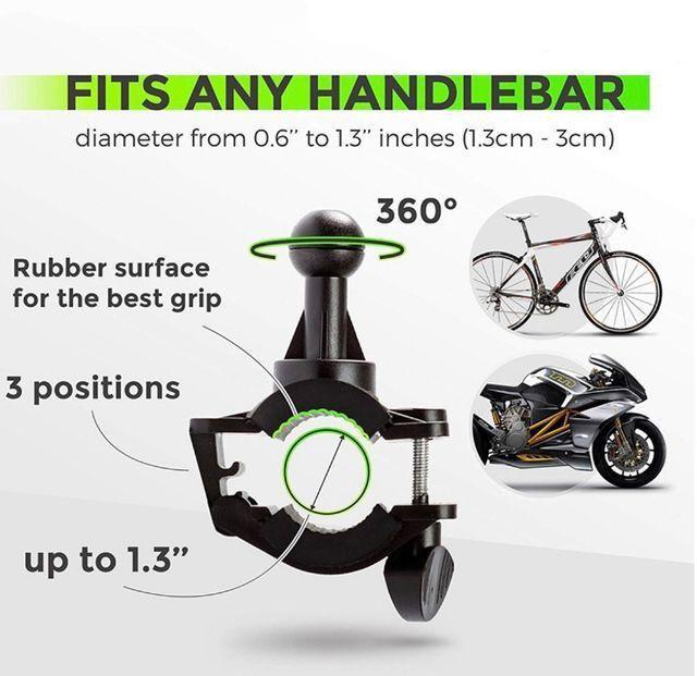 Suporte de celular p/ Bicicleta e Moto com super fixação Original - Foto 4