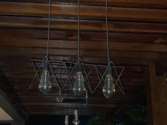 Luminária com lâmpadas de filamento - Foto 4