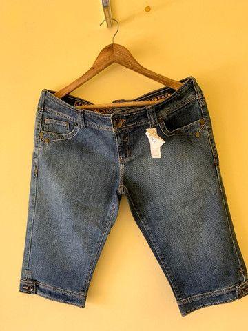 Bermuda Jeans Cantão Nova Com Etiqueta - Foto 2