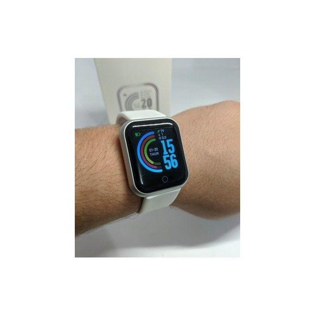 Lindíssimo E Super Moderno Relógio Inteligente Com Várias Funções!  - Foto 3