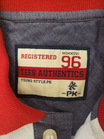 Camisa pólo PK 96, original, tamanho 14 - Foto 2