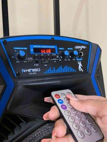 caixa de som Amplificada kimiso  1000w de  Potencia E Karaokê!! ??: