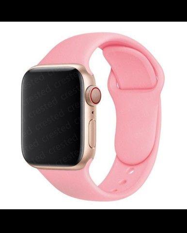 Pulseira de silicone macio Apple watch 42 mm - 44 mm - Foto 5