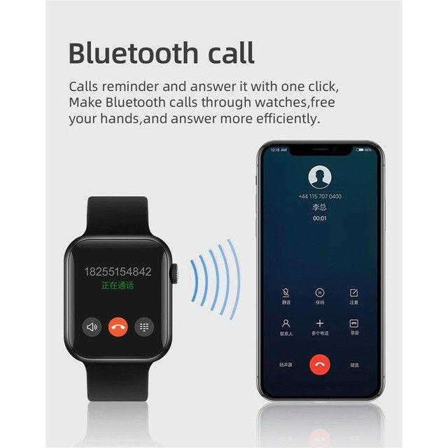 Smartwatch T500 Foto Personalizada batimentos cardíacos contagem de passos tira foto - Foto 4