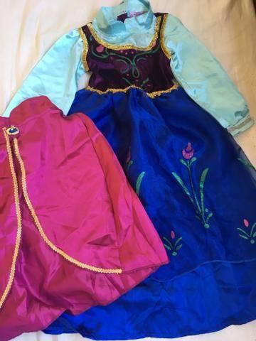Vestido Ana Frozen NOVO - 3 anos