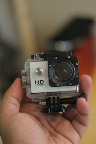 Câmera HD 1080p - Para Esportes e Motoboys (Prova D'agua)