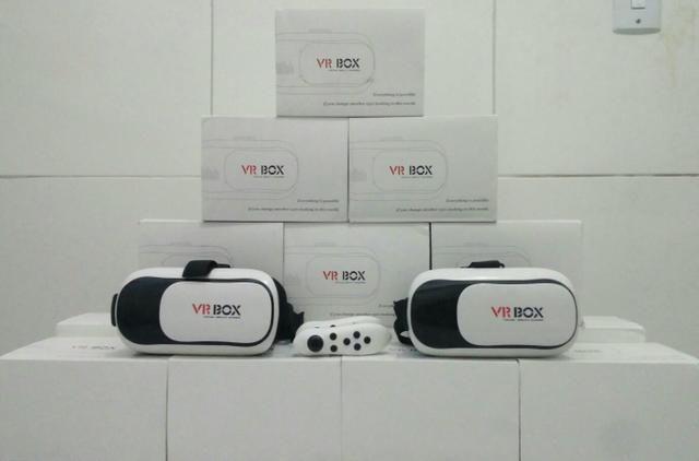 Óculos de Realidade Virtual VR Box 3D + Controle