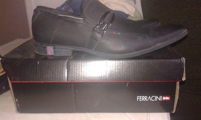 Sapato Ferracini Original 100% Couro nº 40