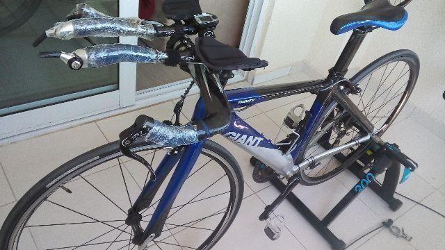 Imperdível Linda bike tt/triathlon Giant carbono-alumínio