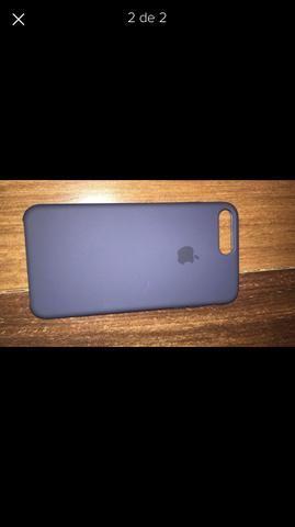 Capa de iPhone 7 Plus oficial da Apple - silicone - Midnight Blue