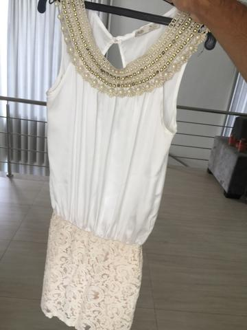 Vestido branco seminovo tamanho 38/40