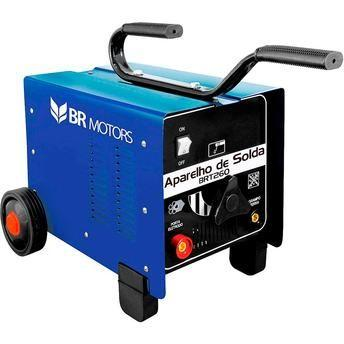 Máquina de Solda BR Motors BRT 260 Azul Bivolt Nova