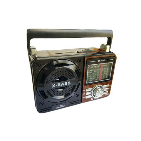 Caixa de Som Portátil D-F10 Grasep Pen Drive Mp3 Radio Am Fm Sw Recarregável Amplificada - Foto 5