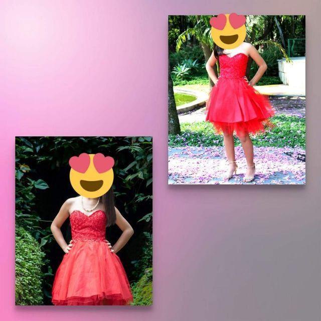 Vestido de 15 anos Curto Vermelho  - Foto 4