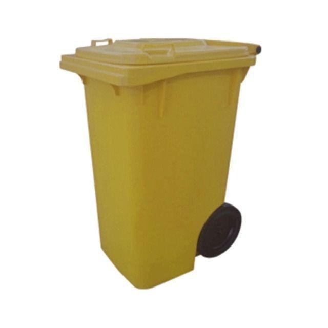 Carrinho Coletor de Lixo com Rodas sem Pedal de 120 Litros