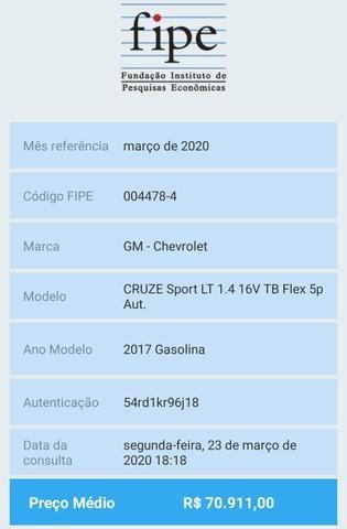 Cruze lt sport6 2017 45.000km - Foto 4