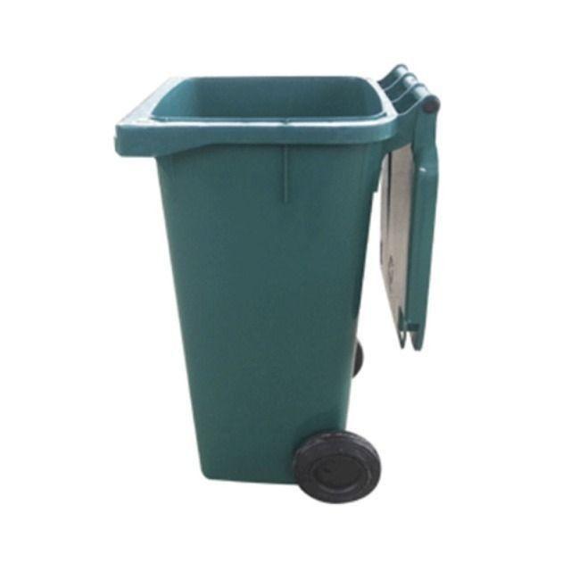 Carrinho Coletor de Lixo com Rodas sem Pedal de 120 Litros - Foto 2