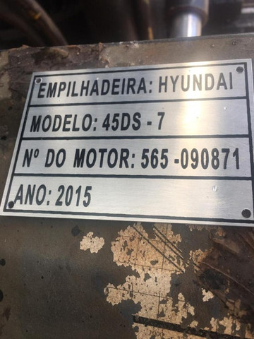 Empilhadeira 5T, á Diesel, Hyundai. Para Venda ou Locação - Foto 2