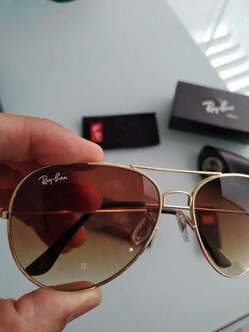 Vendo óculos novo modelo aviador na caixa - Foto 4