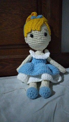 Boneca Cinderela amigurumi