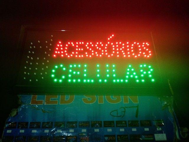Placa led.Acessório para celular  fachada loja  - Foto 3