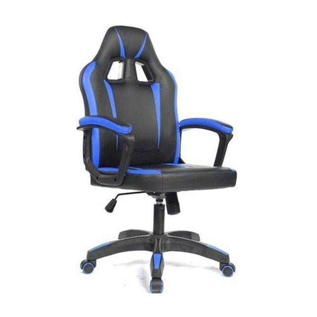 Cadeira Gamer - Nova - Verde - Azul  - Foto 4