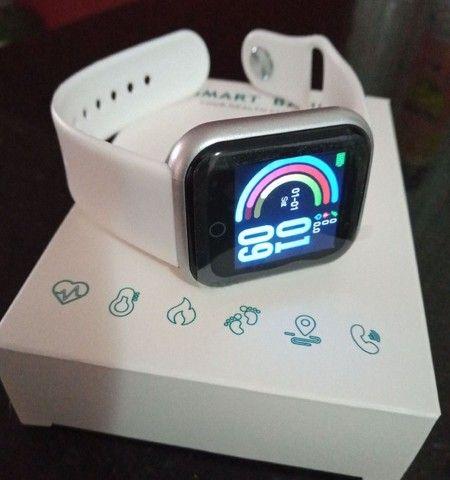 Lindíssimo E Super Moderno Relógio Inteligente Com Várias Funções!  - Foto 4