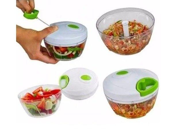 Triturador Alho, Cebola Alimentos Manual Cozinha - Foto 3