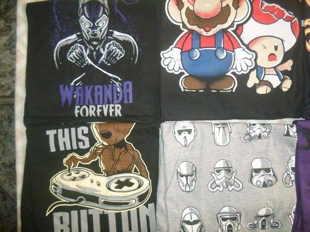 camisas temas game, geek, nerd - Foto 4