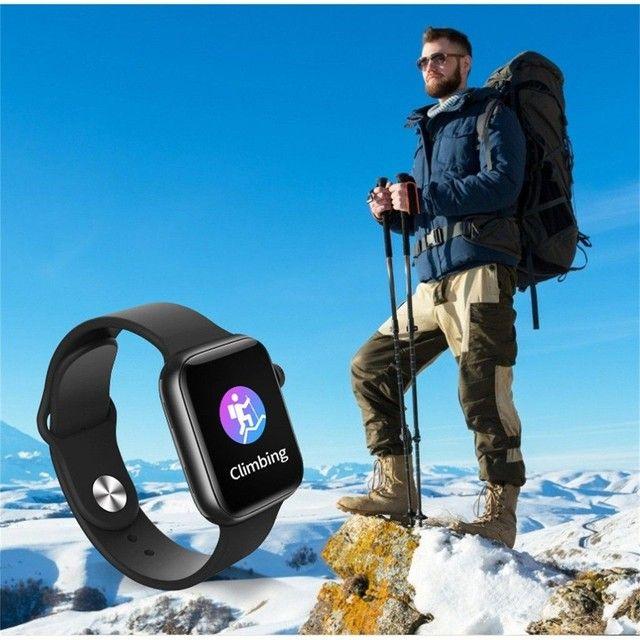 Smartwatch T500 Foto Personalizada batimentos cardíacos contagem de passos tira foto - Foto 6